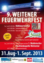 FF Weiten Fest 2013 Plakat A2
