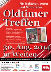 Oldtimertreffen Weiten Flyer A4_web2014
